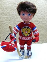 мальчишка-хоккеист