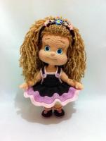 Вязаная кукла Шоколадка (Иринка) крючком