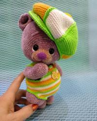 леденцово-лавандовый мишка