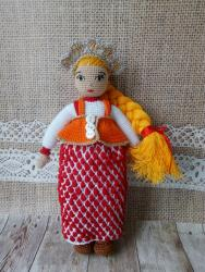 Игровая куколка в Шенкурском костюме (стилизация)