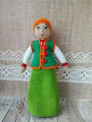 Игровая куколка в костюме Северных регионов России (стилизация)