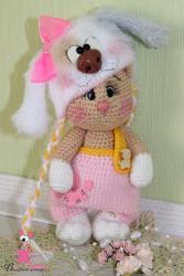 Кошечка Анфиса в костюмчике собачки