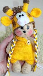 Мишутка Кузя в костюмчике жирафика