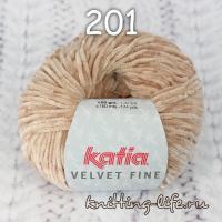 пряжа Katia Velvet Fine цвет номер 201
