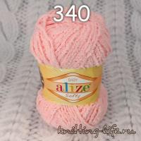 "Пряжа плюш Alize ""Softy"" цвет номер 340"