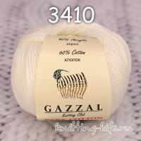 Пряжа Gazzal Baby Cotton, молочный цвет 3410