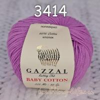 Пряжа Gazzal Baby Cotton, сирень цвет 3414