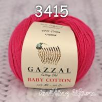 Пряжа Gazzal Baby Cotton, малина цвет 3415