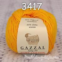Пряжа Gazzal Baby Cotton, канарейка цвет 3417