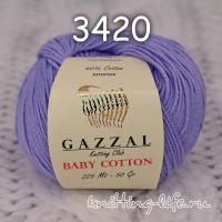 Пряжа Gazzal Baby Cotton, лиловый цвет 3420