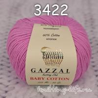 Пряжа Gazzal Baby Cotton, холодный розовый цвет 3422