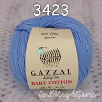 Пряжа Gazzal Baby Cotton, светлый джинс цвет 3423