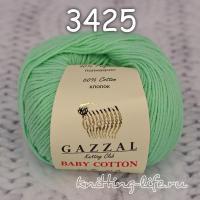 Пряжа Gazzal Baby Cotton, мятный цвет 3425
