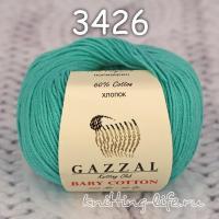 Пряжа Gazzal Baby Cotton, лазурь цвет 3426
