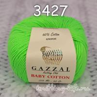 Пряжа Gazzal Baby Cotton, яркая зелень цвет 3427