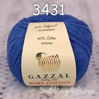 Пряжа Gazzal Baby Cotton, джинсовый цвет 3431