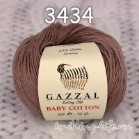 Пряжа Gazzal Baby Cotton, какао цвет 3434