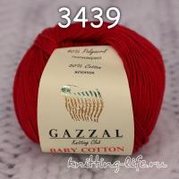 Пряжа Gazzal Baby Cotton, темно-красный цвет 3439