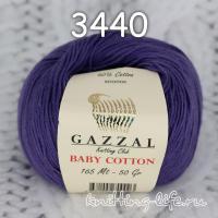 Пряжа Gazzal Baby Cotton, темно-лиловый цвет 3440