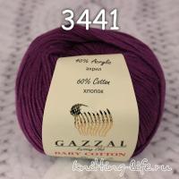 Пряжа Gazzal Baby Cotton, фиолетовый цвет 3441