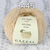 Пряжа Gazzal Baby Cotton, теплый бежевый цвет 3445