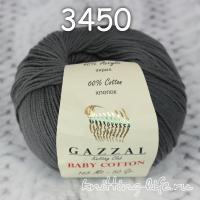 Пряжа Gazzal Baby Cotton, темно-серый цвет 3450
