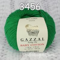 Пряжа Gazzal Baby Cotton, изумруд цвет 3456