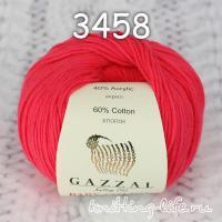 Пряжа Gazzal Baby Cotton, ярко-красный цвет 3458