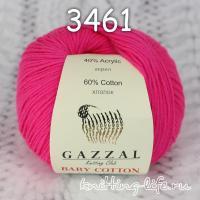 Пряжа Gazzal Baby Cotton, ярко-малиновый цвет 3461
