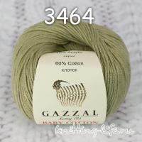 Пряжа Gazzal Baby Cotton, фисташка цвет 3464