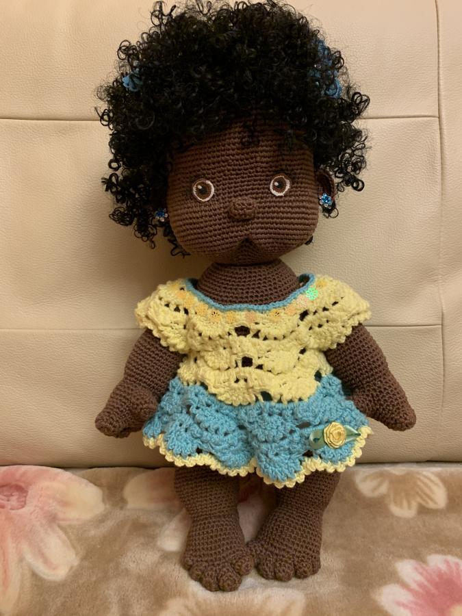 Малышка Мишель в платьице