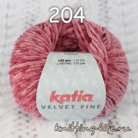 пряжа Katia Velvet Fine цвет номер 204