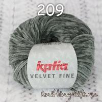 пряжа Katia Velvet Fine цвет номер 209