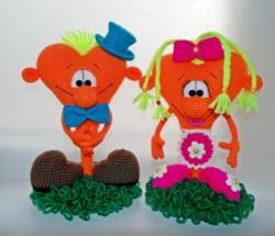Морковные сердечки