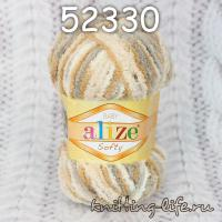 "Пряжа плюш Alize ""Softy"" цвет номер 52330"