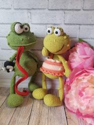 жабенок Квантин и лягушка - подружка