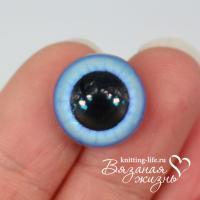 Живые глазки для игрушек (кукол) цвет - голубой