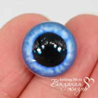 Живые глазки для игрушек (кукол) цвет - синий