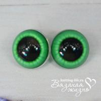 Живые глазки для игрушек (кукол), одна пара, цвет - зелёный