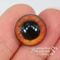 Живые глазки для игрушек (кукол) цвет - коричневый