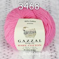 Пряжа Gazzal Baby Cotton, розовый цвет 3468