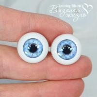 глазки для кукол живые голубой цвет