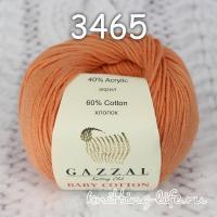 Пряжа gazzal baby cotton цвет номер 3465