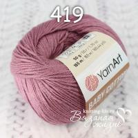 Пряжа YarnArt Baby Cotton цвет номер 419