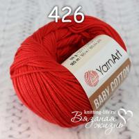 Пряжа YarnArt Baby Cotton цвет номер 426