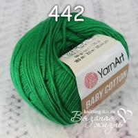 Пряжа YarnArt Baby Cotton цвет номер 442